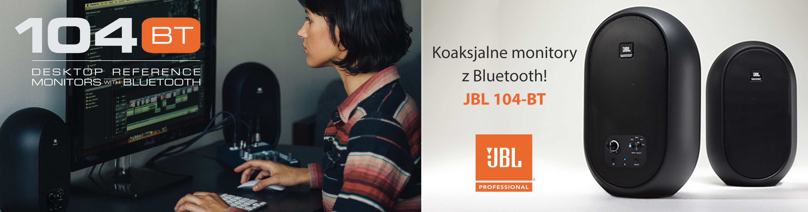 Koaksjalne monitory z Bluetooth! JBL 104-BT