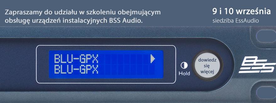 Profesjonalne szkolenie w zakresie obsługi urządzeń instalacyjnych BSS Audio.